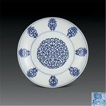 清代寿字青花盘拍卖特点和价格图片