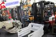 二手废纸抱夹叉车出售,金华二手杭州3吨490柴油叉车