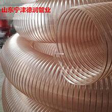 热卖国产透明镀铜螺旋软管钢丝加强耐磨软管加厚加粗软管伸缩工业软管