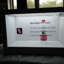 透明液晶屏透明橱窗展柜广告一体机22寸至84寸支持定制尺寸箱体