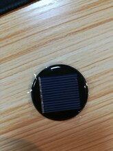 多晶圆形太阳能滴胶板直径39mm3v,用于草坪灯,胎压监测电池板等图片
