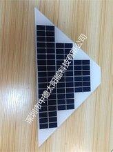 太阳能电池板梯形18v5w多晶,太阳能三角形电池板定做厂家图片