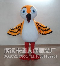 来图定制卡通人偶动物模型卡通道具服装行走人偶小鸟图片