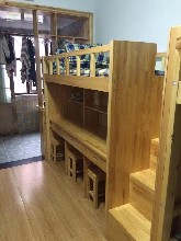 成都大林森厂家大量定做内江公寓双层床,学生实木床图片