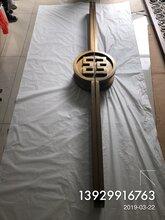 中国工商银行玻璃门铝板雕刻拉手指定拉手定制厂家图片