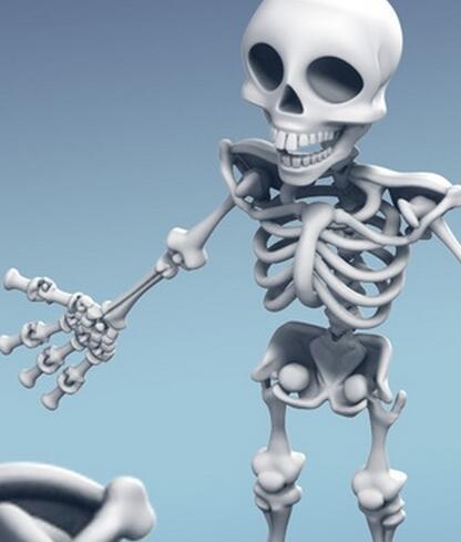 3d打印人体骨骼模型可活动医用教学模型有支架骨架模型图片