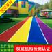人造草坪幼儿园彩虹跑道施工仿真地毯草坪可批发厂家直销