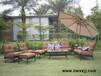美式铸铝沙发售楼部接待区沙发露台别墅室外沙发