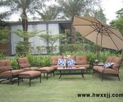 美式铸铝沙发售楼部接待区沙发露台别墅室外沙发图片