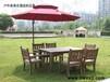 仿实木餐桌椅组合、别墅酒店露天桌椅、中式复古休闲家具