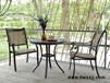特斯林铸铝椅,六人位铁艺户外餐桌椅,别墅庭院桌椅