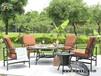 户外桌椅组合五件套,室外铸铝桌椅套件,木炭烧烤桌椅