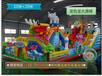 河北张北大型充气玩具厂家广场充气蹦蹦床价格