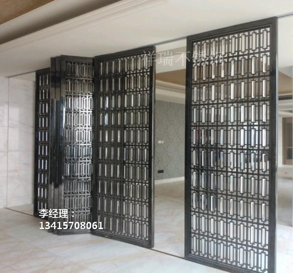 供应201红古铜不锈钢隔断拉丝不锈钢隔断屏风厂家