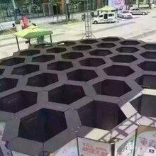 广东户外创意蜂巢迷宫出租,大型灯光节造型布展租售