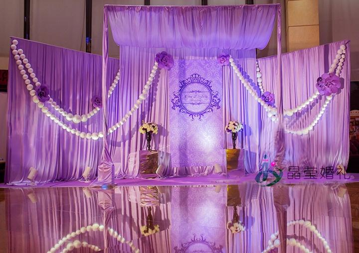 我们给你一场紫色唯美的婚礼