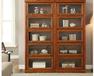 天津美式小书柜、带门推拉门储物柜