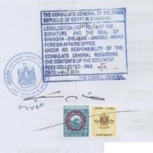 代办产地证埃及使馆认证