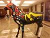 玻璃钢仿真道具彩绘马模型租赁不是唐三彩马而是随你心意变换色彩