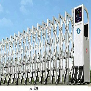 天津大港区电动伸缩门安装原理,伸缩门定做厂家