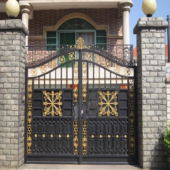 津南区加工安装铁艺大门围栏-铝艺大门订做厂家