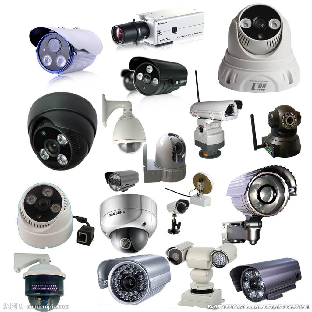 组装监控摄像头配件_专业安装摄像头安防 监控 综合布线弱电施工门禁考勤
