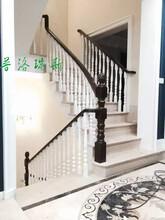 惠州实木楼梯家庭楼梯现场安装图片图片