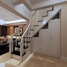 东莞市普洛瑞斯简约风实木楼梯下柜设计图片