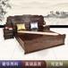 东阳卓瑞红木家具厂家直销古典刺猬紫檀大果紫檀东非酸枝红木大床1.8米百子大床