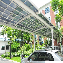北京铝合金高档窗台露台雨棚停车棚钢膜结构定制