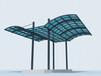 三亚钢结构耐力板车棚阳光板车棚张拉膜停车雨棚过道棚定制