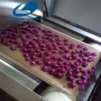 新疆玫瑰花茶烘干,玫瑰花蕾烘干设备,茶叶杀青设备,玫瑰花干燥杀青一体机图片