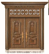 全新新上市QX-62109双开锌合金镶嵌门