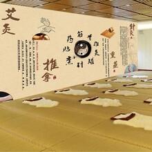 深圳市廠家定制中醫養生之道美容汗蒸館背景裝飾墻壁畫圖片