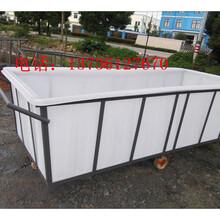 吴江印染纺织推布车绍兴洗水厂专用塑料方桶手推车图片