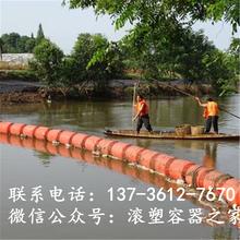 无动力自浮式拦污漂排塑料浮筒价格图片