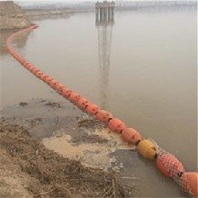 河道漂浮式拦污漂排1米拦污浮筒厂家图片
