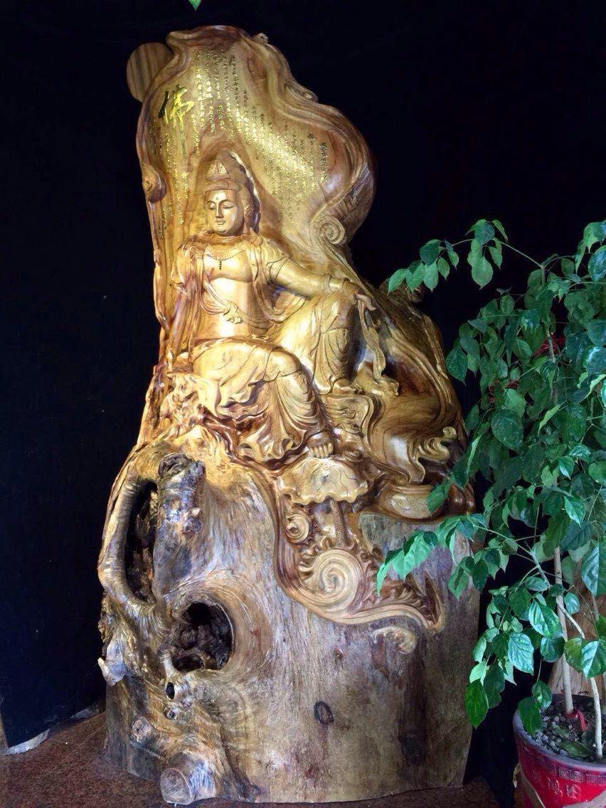 自在观音.根雕.木雕.厂家直销.批发零售.00360