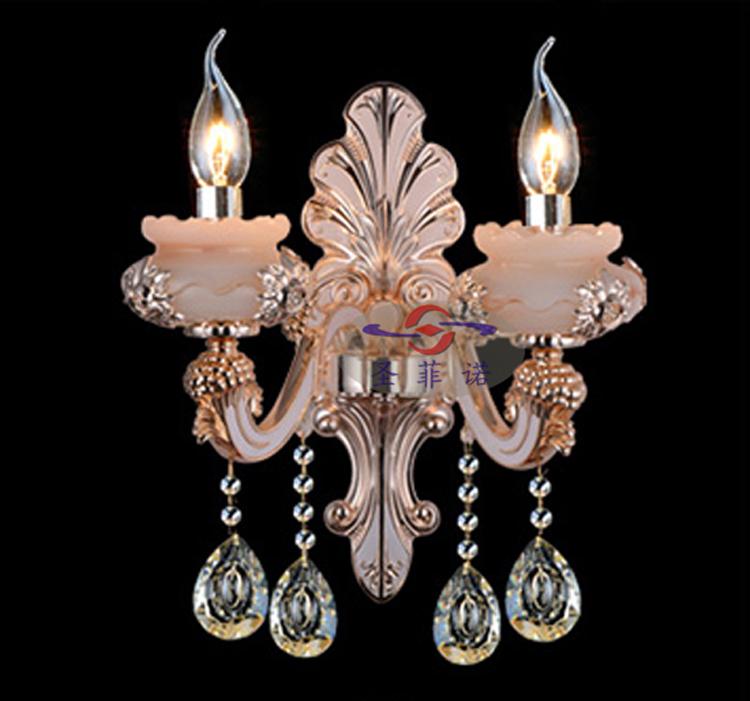 锌合金水晶壁灯