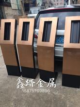 拉丝玫瑰金不锈钢门口机立柱,不锈钢立柱栏杆定制厂家图片