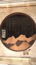 貴州房地產售樓部拉絲不銹鋼山型玫瑰金屏風安裝效果圖圖片