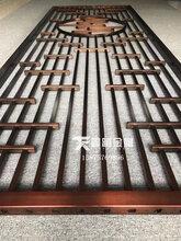 新中式红古铜不锈钢屏风隔断♀图片图片