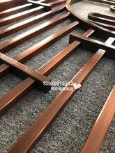 古韵十足的不锈钢做旧红古铜屏风家装金属隔断经典重现图片