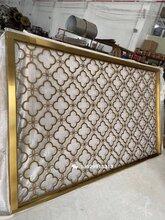 源头厂家生产5毫米不锈钢板激光镂空电镀钛金屏风网红爆款图片