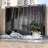 售楼处室外景观镜面不锈钢水景墙/仿古铜不锈钢格栅花格