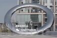 三亞售樓部水景系列不銹鋼圓環雕塑小品中國工藝美術雕塑設計
