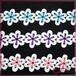 百华科技新品爆款水溶小条边彩色牛奶丝刺绣花朵服装服饰配料