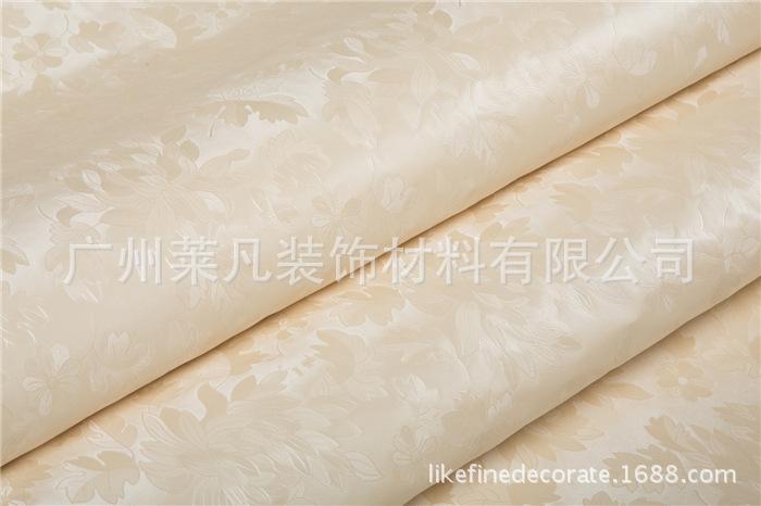 米黄仿布压纹欧式客厅卧室装修工程墙纸加厚防水pvc