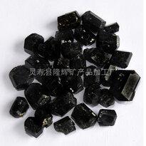 河北灵寿隆辉矿业电气石颗粒托玛琳电气石原矿晶体电气石