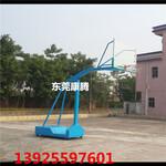开平可推动篮球架户外移动篮球架168mm小圆管玻璃钢板篮球架图片